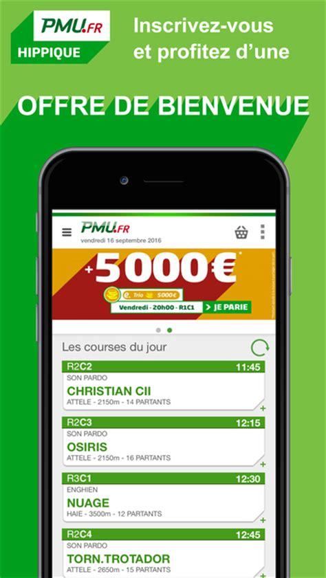pmu hippique turf quint 233 tierc 233 pari prono app
