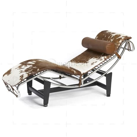 les chaises com le corbusier style lc4 chaise longue pony leather