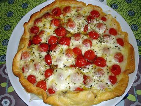pates tomates cerises mozzarella recette de quiche aux tomates cerises et mozzarella
