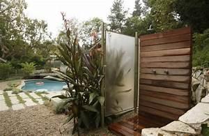 gartendusche mit sichtschutz greyinkstudioscom With französischer balkon mit steine garten günstig