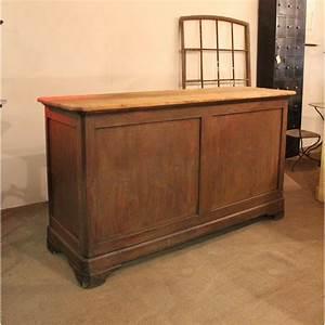 Mobilier Industriel Ancien : mobilier industriel ancien comptoir de commerce en bois ~ Teatrodelosmanantiales.com Idées de Décoration