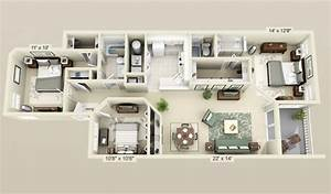 cool 3 bedroom 3d plans | Interior Design Ideas.