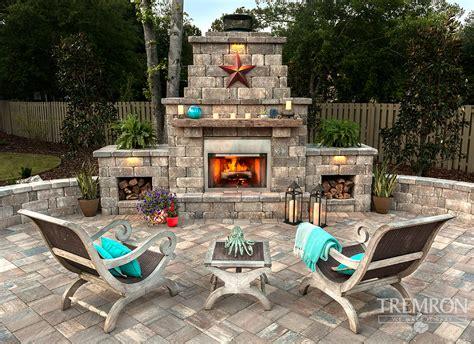 fireplaces tremron jacksonville pavers retaining walls