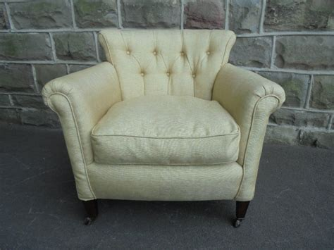 Antique English Upholstered Armchair C.1900