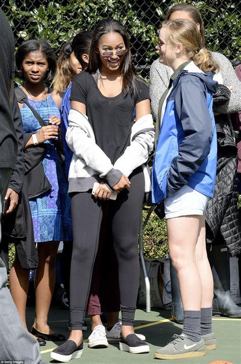 Sasha Obama Sports An Athleisure Look For The White House