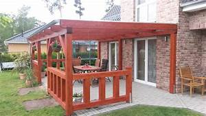 Terrassen berdachung holz for Terrassenüberdachung holz oder alu