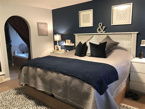 navy master bedroom navy blue master bedroom makeover dream home 12684 | 1e9627cfbebed8749ec120ba81b7cbdd
