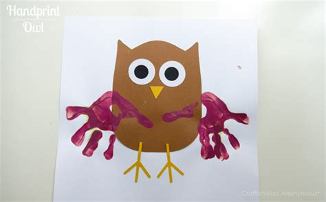 craftaholics anonymous 174 bat and owl preschool crafts 674 | handprint owl