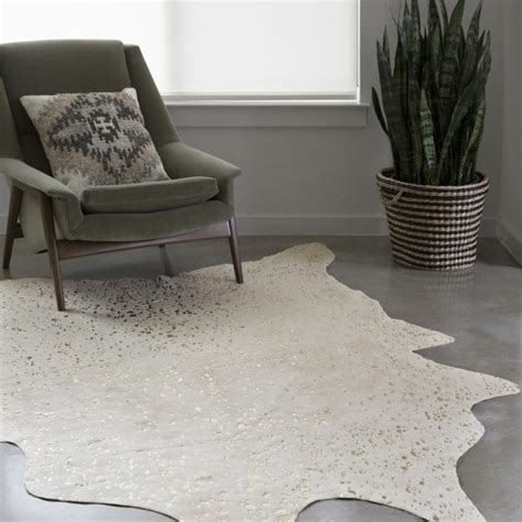 Cowhide Area Rugs Sale by Shop Home Clayton Ivory Chagne Faux Cowhide