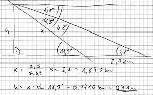 Trigonometrie Höhe Berechnen : trigonometrie wie hoch liegt der berggipfel ber den orten a und b mathelounge ~ Themetempest.com Abrechnung