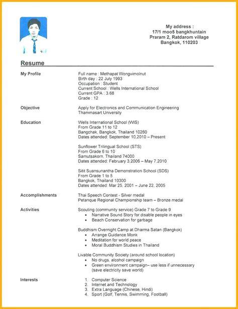 Editable Resume Formats by Curriculum Vitae Pdf Editable