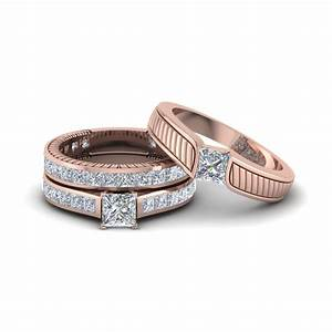 Get Our 14k Rose Gold Trio Wedding Ring Sets| Fascinating ...