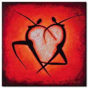 Tableau moderne Coeur Personnages Tableau abstrait Tableaux