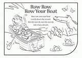 Boat Coloring Row Lyrics Clipart Colouring Pages Rhymes Template Songs English Clip Sketch Library Popular sketch template