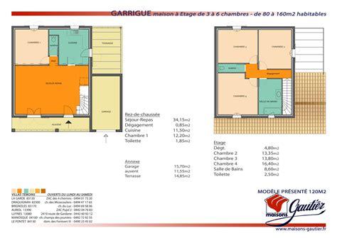 plan de maison 3 chambres plan maison etage 2 chambres plan au sol du 1er tage plan