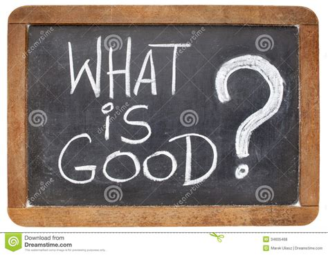 What Is Good Question Stock Photo Image Of Chalk, Black