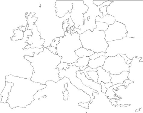 Carte De L Europe Avec Capitales Vierge by Carte De L Europe Vierge 224 Compl 233 Ter My