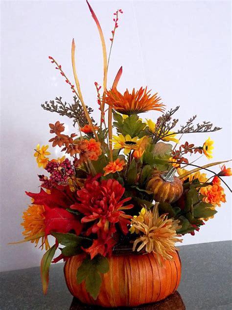fall arrangements with pumpkins fall pumpkin floral arrangement floral centerpiece mums gourd dai