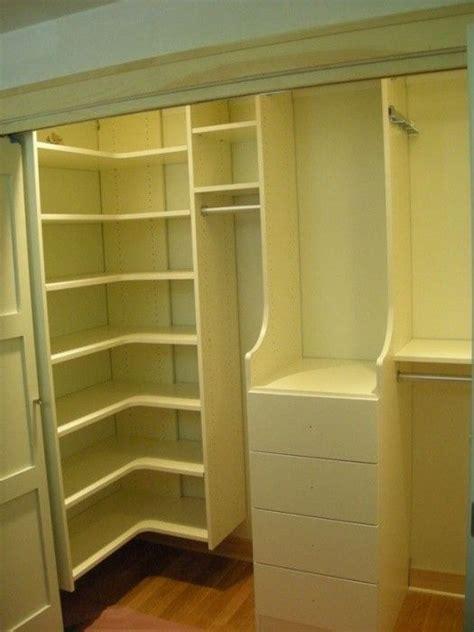 ivory small walk  closet closet design small closet
