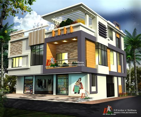home design by 3d bungalow with shop by d k 3d home design architecture