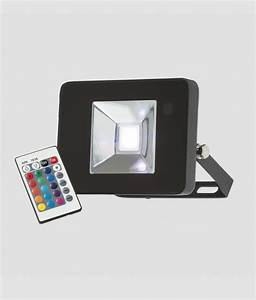 Adjustable rgb led floodlight with infra red remote