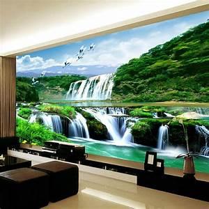 Poster Mural Nature : buy custom 3d photo poster wallpaper non woven hd falls natural landscape large ~ Teatrodelosmanantiales.com Idées de Décoration