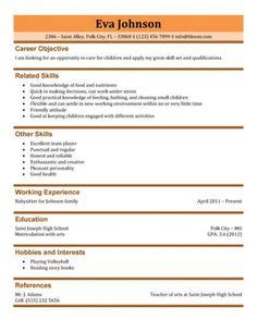 resume  nanny job creative resume design templates