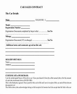 template for car sale agreement 21 sales contract With contract template for selling a car