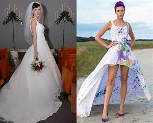 11 brides who gave their wedding dresses mind blowing With wedding dress transformation