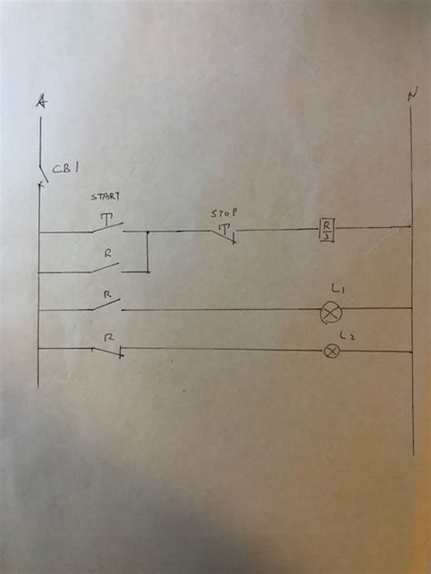 Solved Basic Remote Stop Start Station Schematic Draw