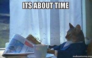 ITS ABOUT TIME - Sophisticated Cat   Make a Meme