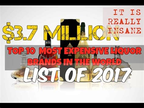 Top 10 Most Expensive Liquor Brands In The World  Youtube