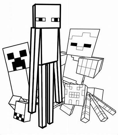 Minecraft Colouring Coloring Pages Template Templates Downloadable