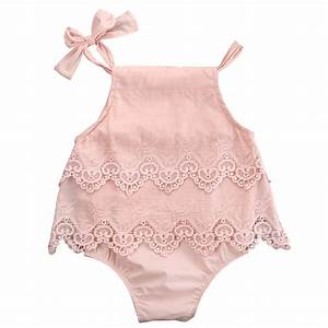 Newborn Baby Girls Lace Sleeveless Romper Cotton Jumpsuit Outfit Sunsuit Flower Clothes 0 18M-in ...