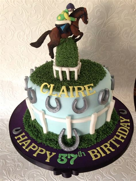 horse racing cake ruby walsh colours  birthday cake