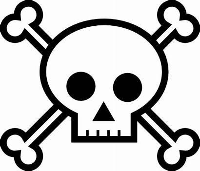 Skull Crossbones Clip Clipart Clker Vector