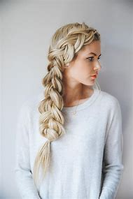Long Blonde Hair Braid