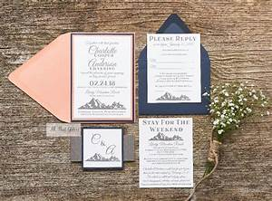 charlotte mountain wedding invitation suite all that With party city wedding invitations reviews