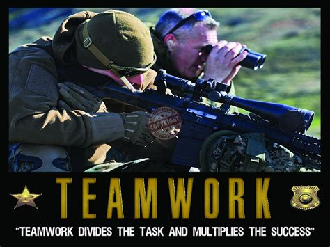 TEAMWORK MOTIVATION POLICE SNIPER POSTER