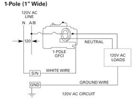 2 Phase Gfci Wiring Diagram by Siemens Qf115 15 1 Pole 120 Volt Ground Fault Circuit