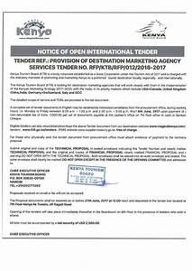 kenyas tourism board issues pr tender document for global With tender documents 2017