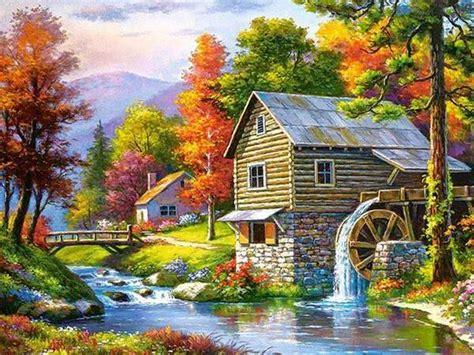 village landscape diamond painting pretty neat creative