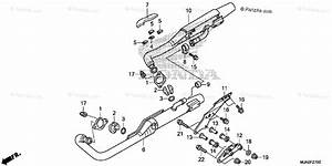 Honda Motorcycle 2015 Oem Parts Diagram For Muffler