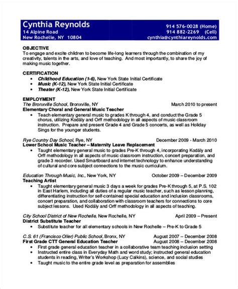 printable teacher resume templates  premium