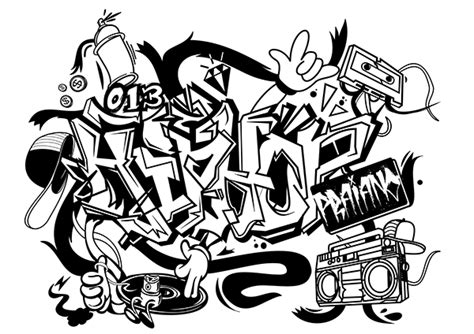 Hip Hop Graffiti Kleurplaat by Graffitis De Hip Hop Arte Con Graffiti