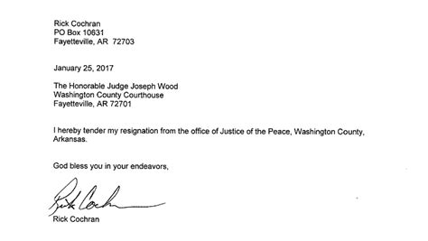 washington county justice   peace resigns  office