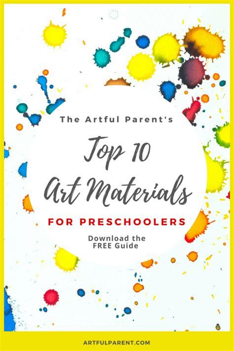 top  preschool art materials printable