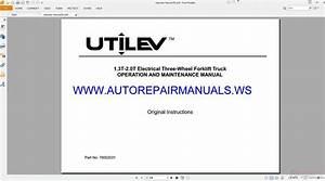 Utilev A370 Operator U0026 39 S And Service Maintenance Manual