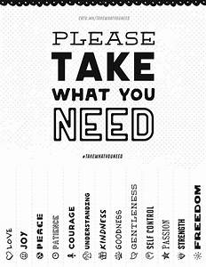 Please take what you need creative market blog for Take what you need template
