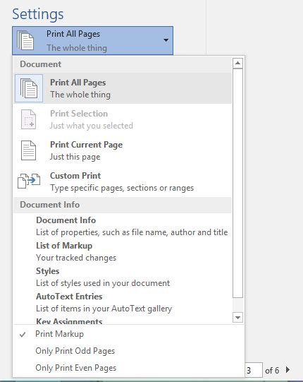 Print A Document In Word Word